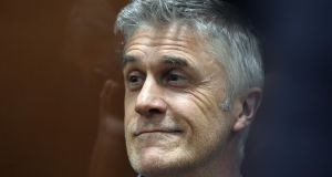 US investor Michael Calvey attending a court hearing in Moscow on Friday. Photograph: AFP