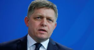 Slovakian prime minister Robert Fico, who leads the ruling Smer party,  now says new judges should be approved only after a new Slovak president takes office in June. Photograph: Hannibal Hanschke/Reuters