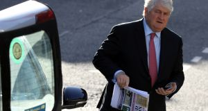 Denis O Brien,  at the Four Courts in Dublin on Friday. Photograph:  Collins Courts