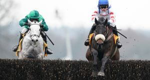 Harry Cobden and Clan Des Obeaux took the Denman Chase at Ascot. Photograph: Alan Crowhurst/Getty