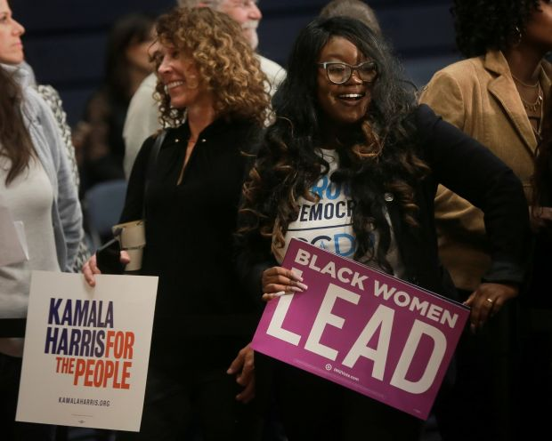 Supporters wait to meet Kamala Harris in North Charleston, South Carolina. Photograph: Reuters/Elijah Nouvelage