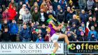Wexford fans look on as Aidan Nolan scores the winning point. Photograph: Tommy Dickson/Inpho