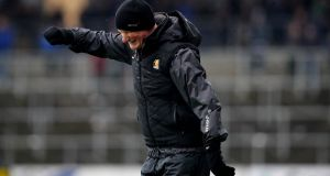 Kilkenny manager Brian Cody reacts during the  defeat to Limerick at Nowlan Park. Photograph: Ryan Byrne/Inpho