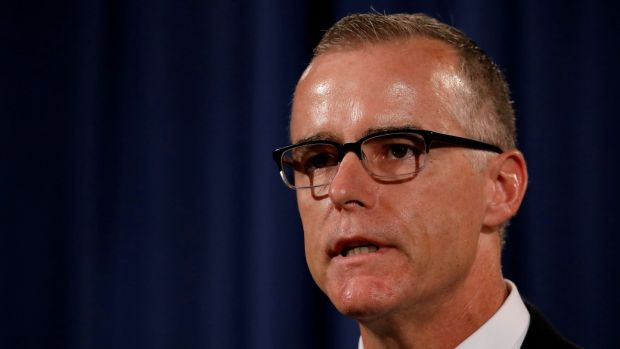 Former acting FBI director Andrew McCabe has written a new book called 'The Threat: How the FBI Protects America in the Age of Terror and Trump'. File photograph: Aaron P Bernstein/Reuters