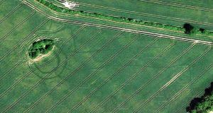 Enclosure at Oldtowndonore in Co Kildare. Photograph: Google Earth images