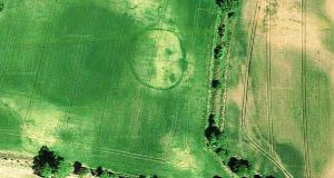 Colbinstown enclosure in Co Kildare. Photograph: Google Earth images