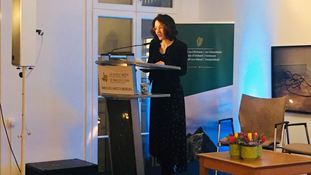 Dr Catherine Toal, Professor of Literature and Dean of the Faculty, Bard College, Berlin, delivders her lecture, Women Writing Irish Literature