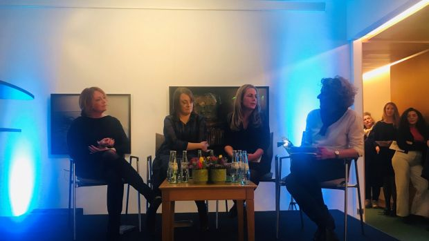 Panel discussion with Eimear McBride, Lisa McInerney, Julia Kelly and moderator Stefanie Flamm of Die Zeit