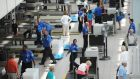 File photo of a security checkpoint at Orlando Airport. Photograph: Stan Honda/AFP