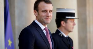 French president Emmanuel Macron intends to make a wide-ranging speech in which he will attempt to galvanise European allies. Photograph: Reuters