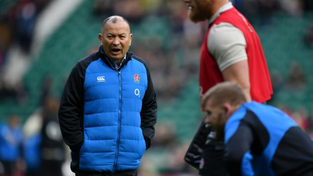 Eddie Jones: oversaw a Grand Slam in his first year, 2016, and retained the title the following year. Photograph: Dan Mullan/Getty