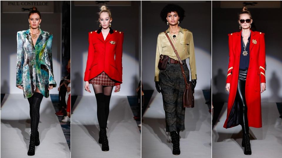Made Fashion Week for Impulse Womens Blazer Gold Metallic S