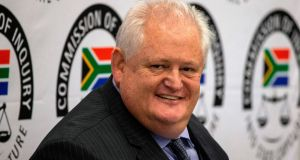 Angelo Agrizzi, former COO of Bosasa, testifies at the commission of inquiry  in January in Johannesburg. Photograph:  by Wikus de Wet/AFP/Getty
