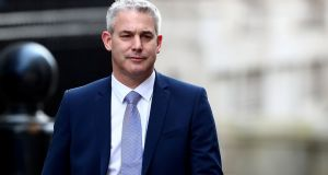 Stephen Barclay: Britain's Brexit secretary  will resume his discussions with EU officials in Brussels.  Photograph: Hannah McKay/Reuters
