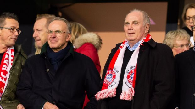 Karl-Heinz Rummenigge and Uli Hoeness. Photo: TF-Images/TF-Images via Getty Images