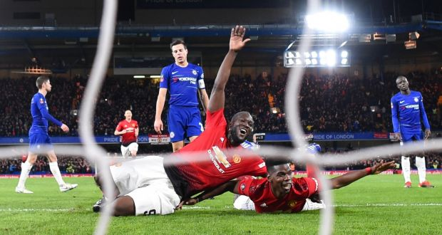 Paul Pogba of Manchester United celebrates with Romelu Lukaku after scoring  his team s second goal during 707a93114