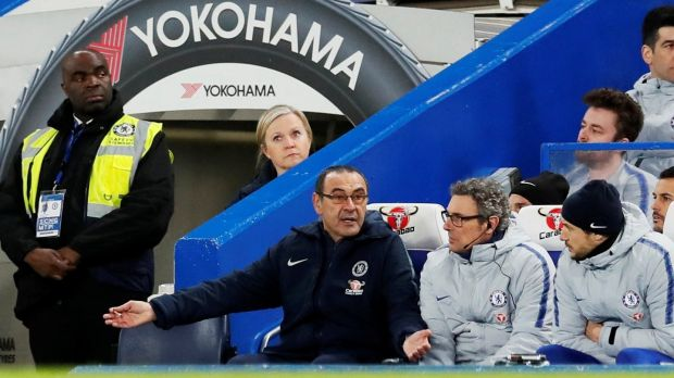 The pressure continues to mount on Sarri. Photo: David Klein/Reuters