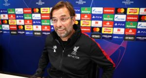 "Jurgen Klopp: ""They [Bayern] are still a force, nothing else."" Photograph:  Clive Brunskill/Getty Images"