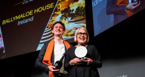 JR Ryall and Darina Allen of Ballymaloe House restaurant, which won the  Trolley of the Year award at the  World Restaurant Awards in Paris. Photograph: Thomas Samson / AFP