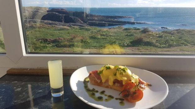 Hook lighthouse cafe brunch in Co Wexford won best visitor attraction breakfast.