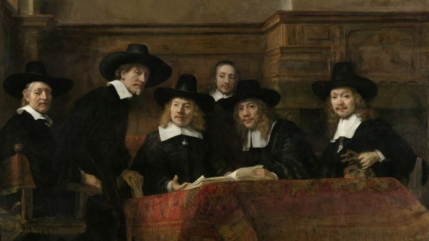 The Drapers' Guild, 1662, by Rembrandt. Photograph: The Rijksmuseum, Amsterdam