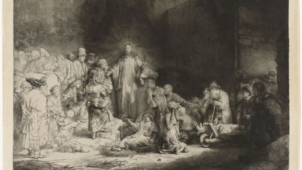 Christ Healing the Sick, known as The Hundred Guilder Print, around 1648, by Rembrandt. Photograph: The Rijksmuseum, Amsterdam
