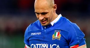 Sergio Parisse will miss Italy's clash with Ireland due to concussion. Photograph: Tommy Dickson/Inpho