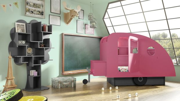 Mathy by Bols is a caravan bed that is available in 27 colours and costs about €1,417.