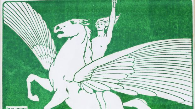 Lot 38: Pegasus woodcut by Paul Henry, circa 1901-1910, €8,000-€12,000, Sheppard's