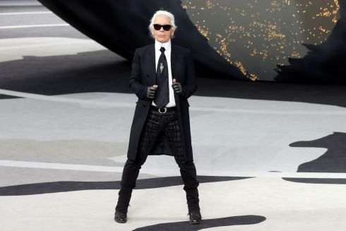 At his Fall-Winter collection 2013/2014 show during Paris Fashion Week in March, 2013. Photograph: Benoit Tessier/Reuters