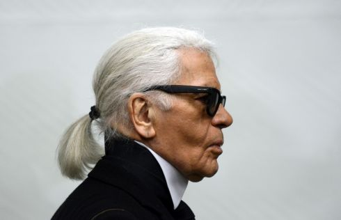Karl Lagerfeld at an exhibition at the Museum Folkwang in Essen, western Germany, in 2014. Photograph: Caroline Seidel/AFP