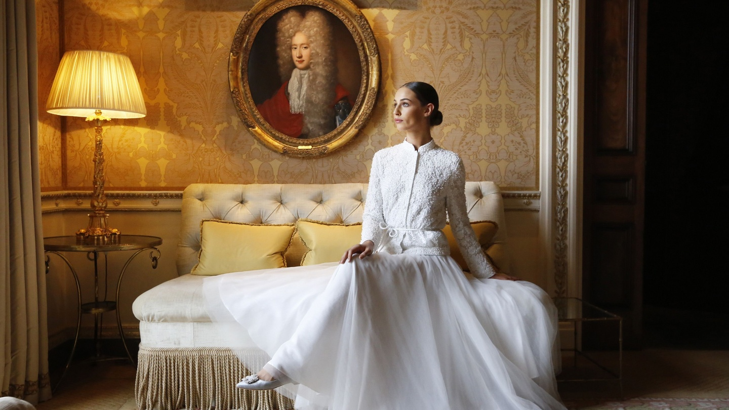 9c900587eb0 Louise Kennedy shows new collection in luxury surroundings of Ballyfin  Demesne