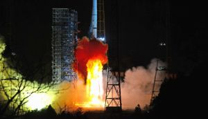 A rocket carrying the Chang'e-4 lunar probe including a lander and a rover blasts off from  Xichang launch centre in the Sichuan province of China in December. Photograph: VCG via Getty