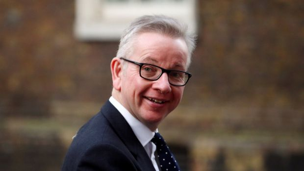 Michael Gove, the UK environment secretary, said that the UK would indeed impose tariffs on food imports after Brexit. Photograph: Reuters