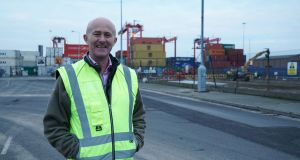Eamonn O'Reilly, chief executive of Dublin Port. Mr O'Reilly says Dublin Port will be prepared for a hard-Brexit and customs posts will be functioning for the March 29th deadline. Photograph: Enda O'Dowd