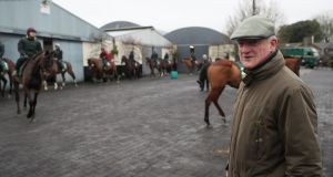 "Willie Mullins at  his yard at Closutton, Carlow. ""We've got good chances in the Gold Cup. We have our chances in the Champion Hurdle."" Photograph:   Brian Lawless/PA"