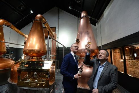 TAKING LIBERTIES: Tánaiste Simon Coveney officially opens The Dublin Liberties Distillery in Old Mill Street. Photograph: Dara Mac Dónaill/The Irish Times