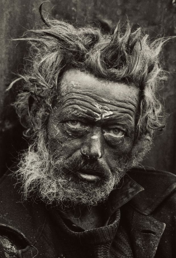 Don McCullin, Homeless Irishman, Spitalfields, London, (1970). Credit: Don McCullin/Tate