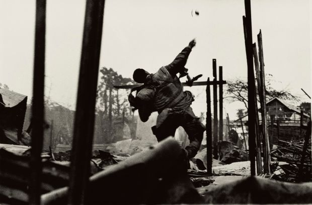 Don McCullin, Grenade Thrower, Hue, Vietnam (1968) Credit: Don McCullin/Tate