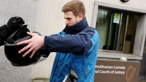 Patrick Hutch leaves the Special Criminal Court after all charges were dropped against him regarding the Regency Hotel murder. Photograph: Padraig O'Reilly