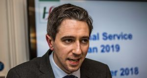 Minister for Health Simon Harris wore his usual pale and pinched worried expression. Photograph: James Forde