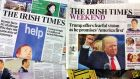 'The Irish Times' has combined print and digital sales of 79,406 in the second half of 2018. Photograph: Frank Miller