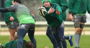 Kieran Marmion will start for Connacht on Friday night. Photograph: James Crombie/Inpho