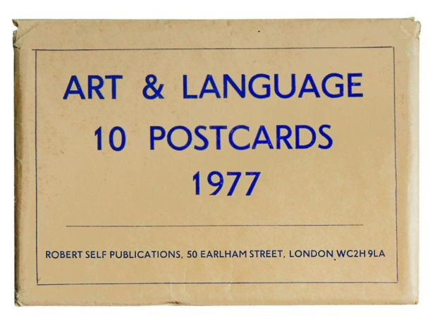 Art & Language, 10 Postcards, 1977. Photograph: Reproduced by permission of the artists
