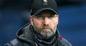 Liverpool manager Jürgen Klopp has been fined £45,000 by the FA for comments about referee Kevin Friend's performance in his side's draw at West Ham. Photograph:  Richard Sellers/PA Wire.