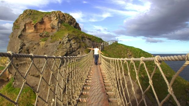 The Carrick-a-Rede rope bridge in Co Antrim