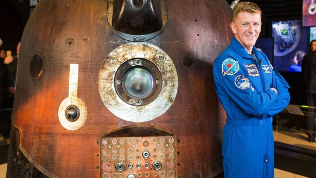 Tim Peake's Spacecraft exhibition is running at the Ulster Transport Museum