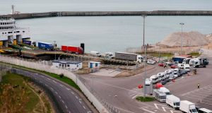 Dieppe harbour in northwest France. As Brexit approaches, the ports of the English Channel and the North Sea are preparing for the worst. Photograph: Charly Triballeau/AFP/Getty Images