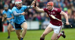 Dublin's Cian O'Callaghan and Conor Whelan of Galway: The Galway player has been charged with public order offences. Photograph:  ©INPHO/James Crombie