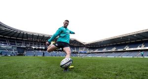 John Cooney at the Ireland Rugby Captain's Run at  Murrayfield in Scotland on February 8th. Photograph: Dan Sheridan/Inpho